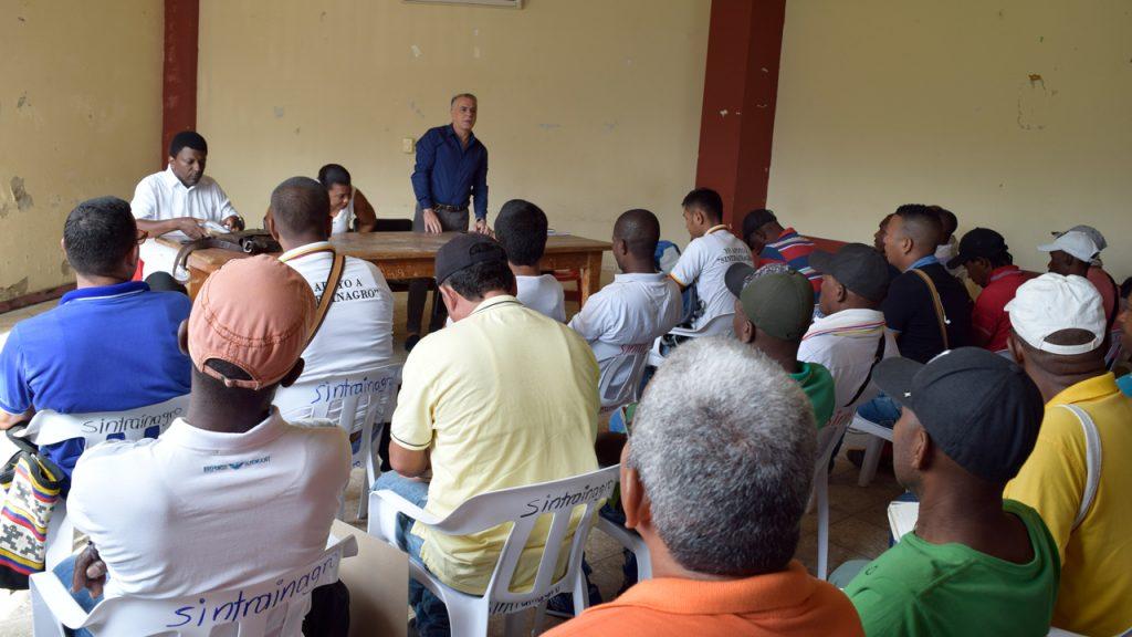 Reunión de Sintrainagro Seccional Chigorodó